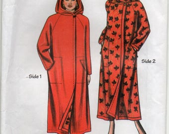 Unlined Coat Can Be Made Reversible Hidden Security Pockets Inside Size Sml Med Lrg Sewing Pattern Portlandia 3112