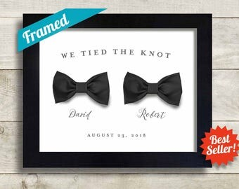 Gay Wedding Gift For Two Men We Tied The Knot Bow Ties Mr And