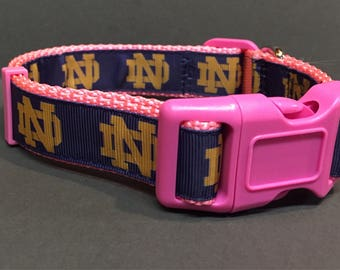 Notre Dame Inspired Dog Collar  PINK