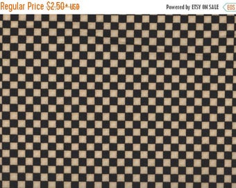 ON SALE Checker Fabric, Monster Truck Mania by Quilting Treasures, Check, Black and Tan Checkered Fabric, 05078
