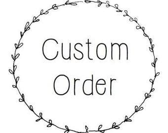 Custom Order Jeannine Hand Stamped Coordinates Keychain