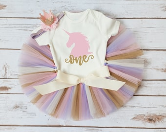 Gold unicorn birthday outfit 'Selah Gold' unicorn first birthday outfit girl purple pink gold first birthday, unicorn birthday gold birthday