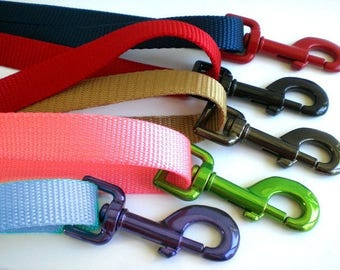 Nylon Dog Leash - Short, Long, Extra Long Dog Leash, Traffic Handle Optional - Custom Size and Color Dog Leash, Training Lead