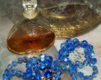 CHAMADE PERFUME and CRYSTAL Necklace c1969