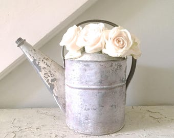 Vintage Watering Can Metal  Shabby Cottage