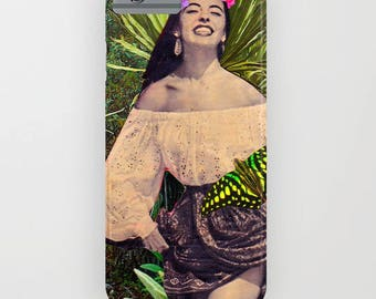 "Collage "" Sofia"" Vintage Spanish Lady Flowers Phonecase- for IPhone and Samsung Galaxy."