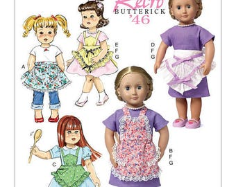 Butterick 6468- 18 Inch Doll Pattern-Uncut