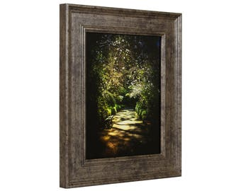 """Craig Frames, 4x6 Inch Tarnished Silver Picture Frame, Revival, 2"""" Wide (FM97SI0406)"""