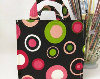 Medium Nest Basket with Organizer Pockets - Watermelon Bubbles
