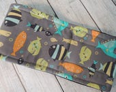 Dog Diaper Belly Band, Piranha Guppies for Lunch Fabric, For Male Dogs, Personalized