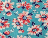 Vintage Fabric, Quilting Cotton, Feedsack, 1940's Fabric, NOT Reproduction, UK Seller,