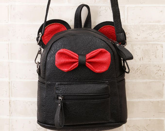 Mini Backpack with Bow