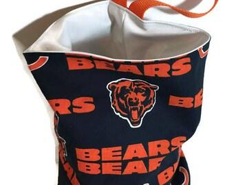 Chicago Bears Waterproof Car Trash Bag, Litter Bag, Car Accessory, Storage Bag, Trash Bag, Waterproof Car Bag, Organizer Bag, Storage Pod