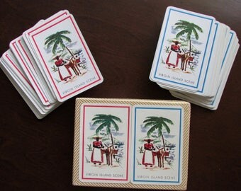 Virgin Islands Double Deck Playing Cards in Cardboard Box by Ferd. Piatnik, Austria