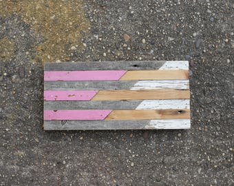 "daydreaming #2: 15x7"" reclaimed wood mosaic wall hanging"