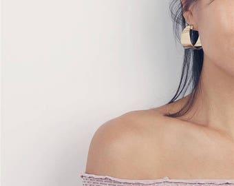 ON SALE Gold Hoop Earrings - Boho Hoops - Statement Hoops - Statement Earrings - Boho Chic - Gift for Her - Hoop Earrings
