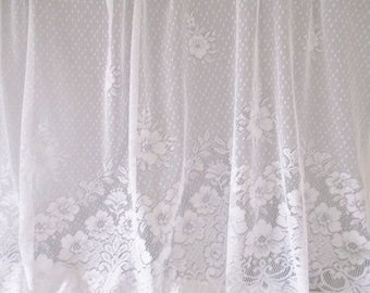 white lace curtain panel single lace curtain panel rod pocket design fine swiss
