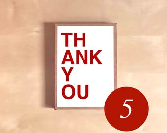 Thank You Card Set - Card Boxed Set - Card Gift Set - THANK YOU