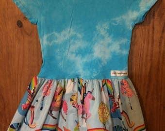 Unicorn shirt dress