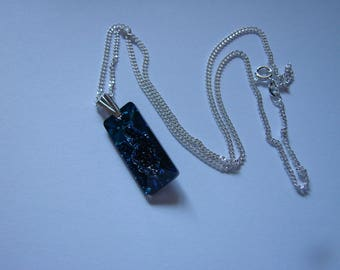 Swarovski Growing Crystal Bermuda Blue Pendant, Sterling Silver Chain