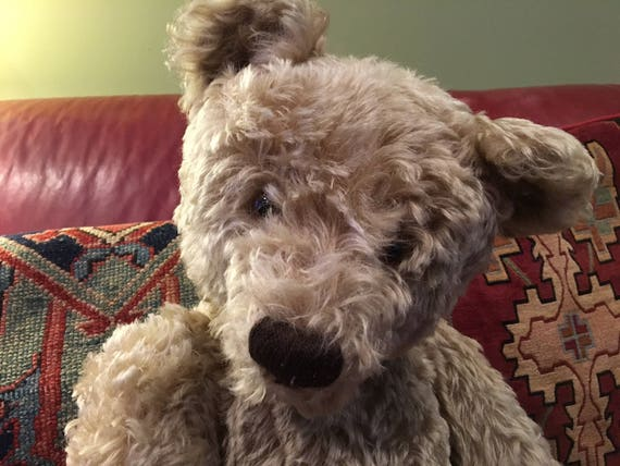 Sale - Absolutely Gorgeous Vintage Mohair Steiff Teddy Bear in Rare Size