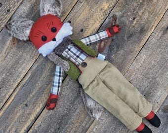 Woodland Fox Doll, Handmade doll, Boy doll