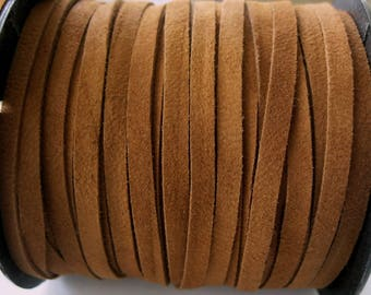 Genuine 5MM Suede Lace Rich Brown Jewelry Garment Quality 3 Yards