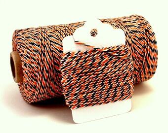 Halloween Twine - Halloween Favors - Orange and Black Cotton String - Halloween Divine Twine - Orange and Black Twine - Halloween Gift Wrap