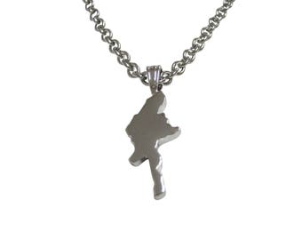 Burma Map Shape Pendant Necklace