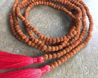 Rudraksha Lariat Necklace