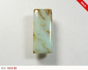 Peruvian Opal Cabochon, 12.5x30x5 mm, designer cabochon, gemstone cabochons, flat back cabochons, natural stone cabochons (po1973)