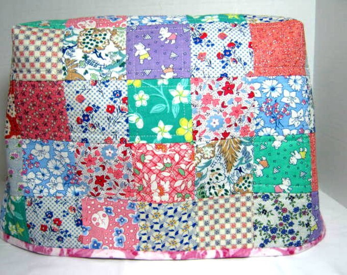 Thirties Fabric Reversible Quilted Sewing Machine Dust Cover