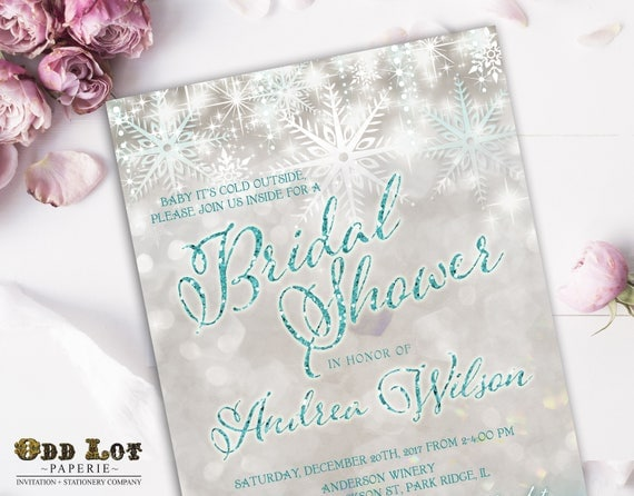 Snowflake bridal shower winter bridal shower invite winter il570xn filmwisefo