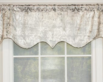 Crown shaped valance in grey,blue or beige