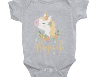 Unicorns are Magical Infant Bodysuit