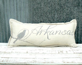 Drop Cloth Arkansas Pillow