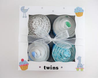 Twin Boy Baby Gift 12 piece set  - Twins Gift - Boy twins gift - 3 month - dinosaur