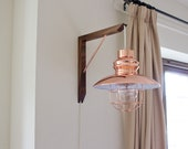 Wooden Lighting Bracket - Lighting Fixture - Solid Wood - Metal - Gallows Bracket - Wall Mounted - Wall Light - Hangman Bracket - Bulb