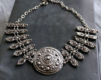 Didia choker Silver Necklace Boho Jewelry