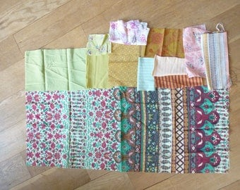 set of 130 patchwork fabrics coupons