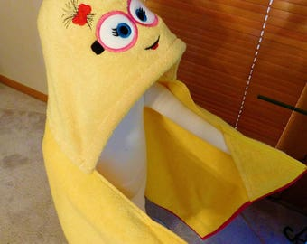 Minion Hooded Towel - Free Personalization
