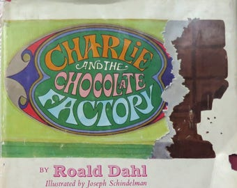 Willy Wonka Roald Dahl Charlie and the Chocolate Factory Hardcover 1964 Edition Classic Children's Literature Golden Ticket Christmas Gift