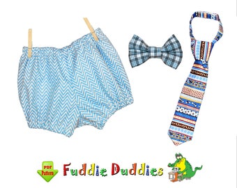 Baby Boys Tie Pattern & Bow Tie Bloomer Pattern, Diaper Cover Set, Baby pdf Sewing Pattern. Infant, Baby. Photo prop, INSTANT DOWNLOAD Billy
