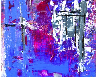 Abstract Wall Art 'Urban Life 7' by Celeste Reiter - Urban Decor Contemporary Color Layers Artwork on Metal or Plexiglass