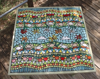 Mosaic Table, Mosaic Art, Mosaic Garden Table, Outdoor Mosaic Table, Mosaic  Garden