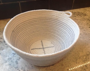 Rope basket, bowl, organizer for accessories