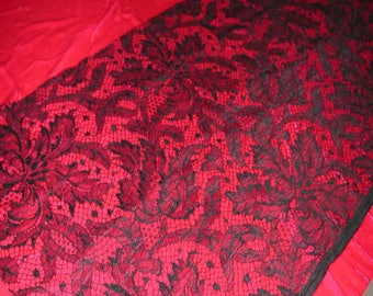 """No. 300 French Black Couture Lace Piece, 14"""" x 29"""""""