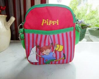 Vintage Swedish Childrens Pippi Longstocking shoulder bag