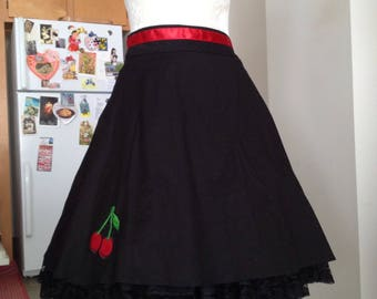 Cherry swing skater skirt medium