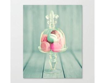 SALE, Macaroons, macarons, large wall art, wall art canvas, large art, canvas art, macaron, girl nursery decor, nursery wall art girl, mint